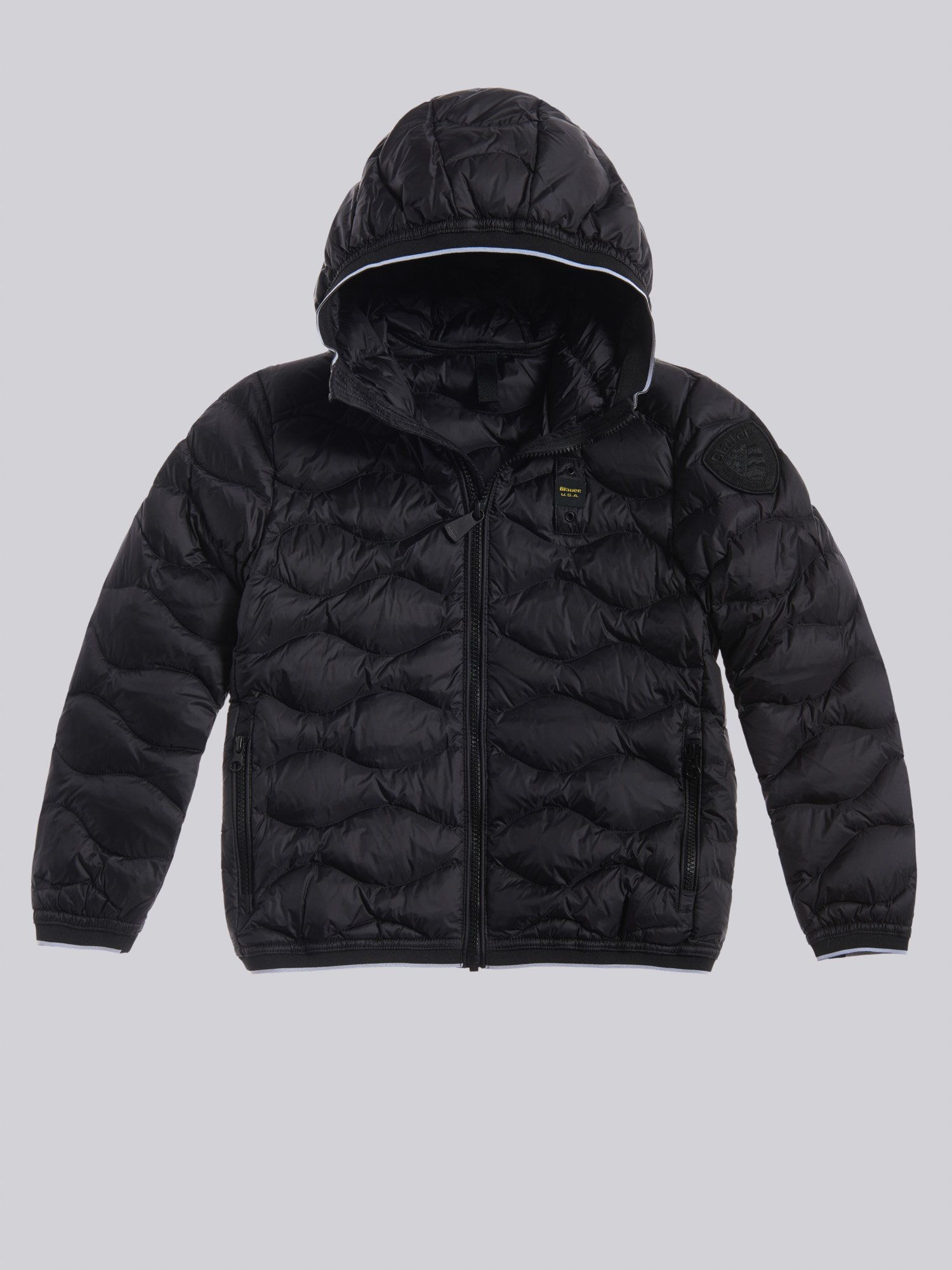 Blauer - MANUEL WAVE-QUILTED DOWN JACKET - Black - Blauer