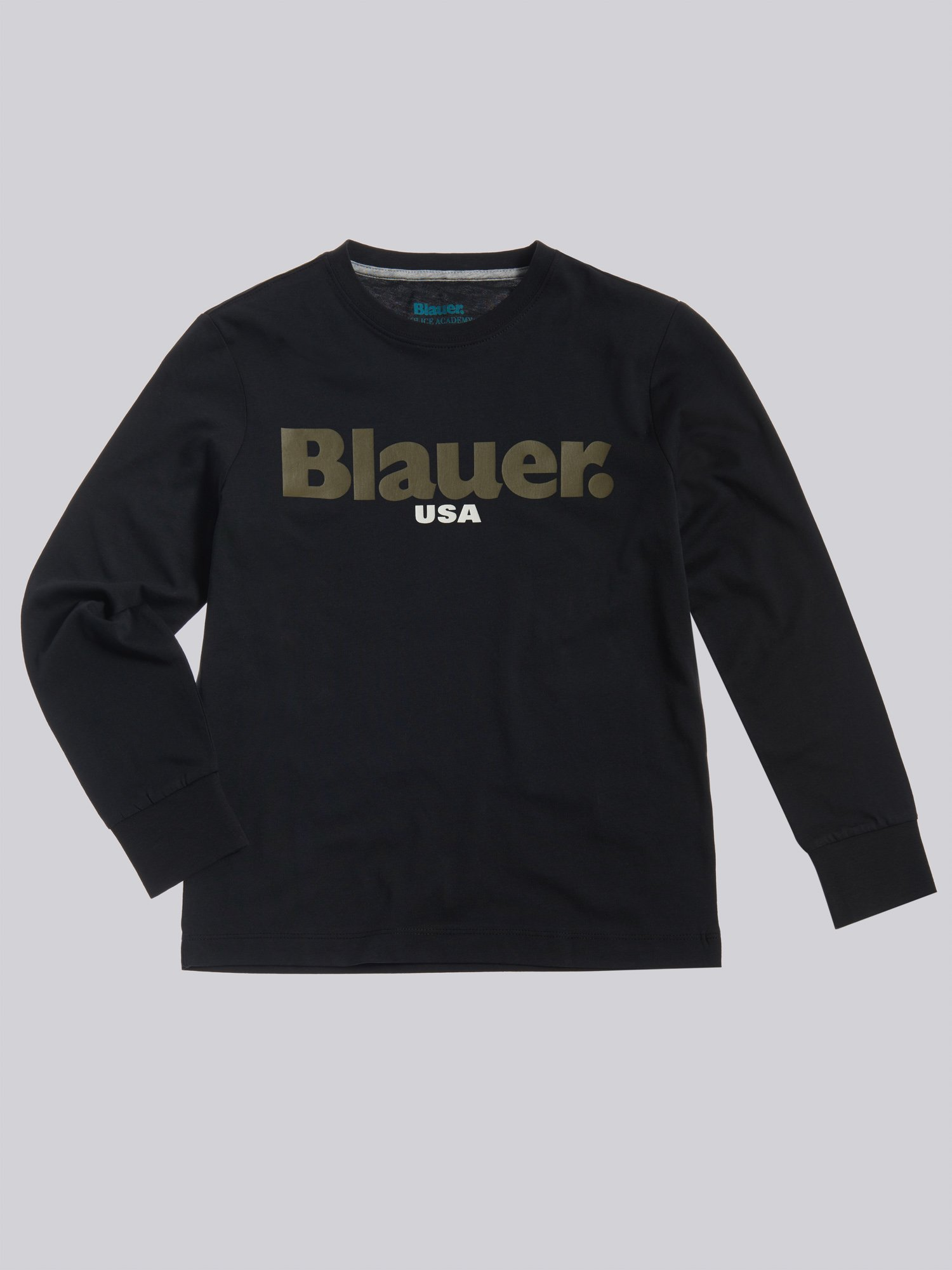 Blauer - T-SHIRT MANCHE LONGUE BLAUER - Noir - Blauer