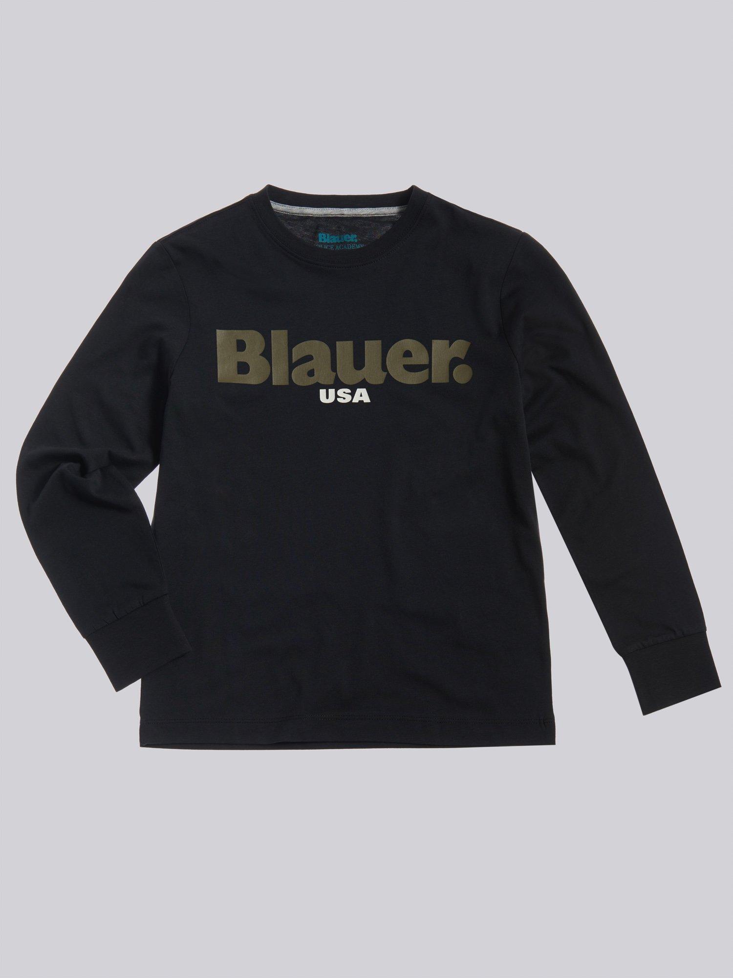 LANGARM-T-SHIRT BLAUER - Blauer