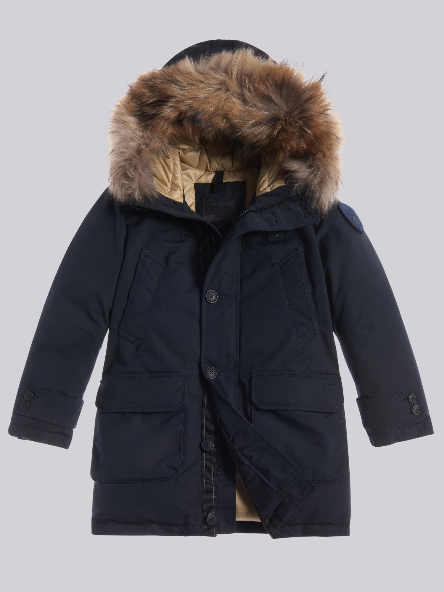 VINCENT PARKA IN TASLAN WITH HOOD - Blauer