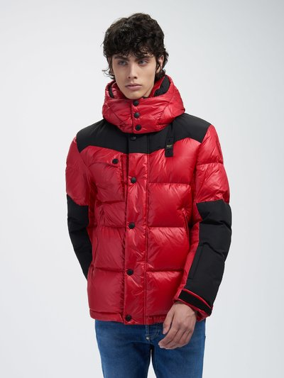 ARTHUR DOWN JACKET IN SHINY NYLON AND TASLAN