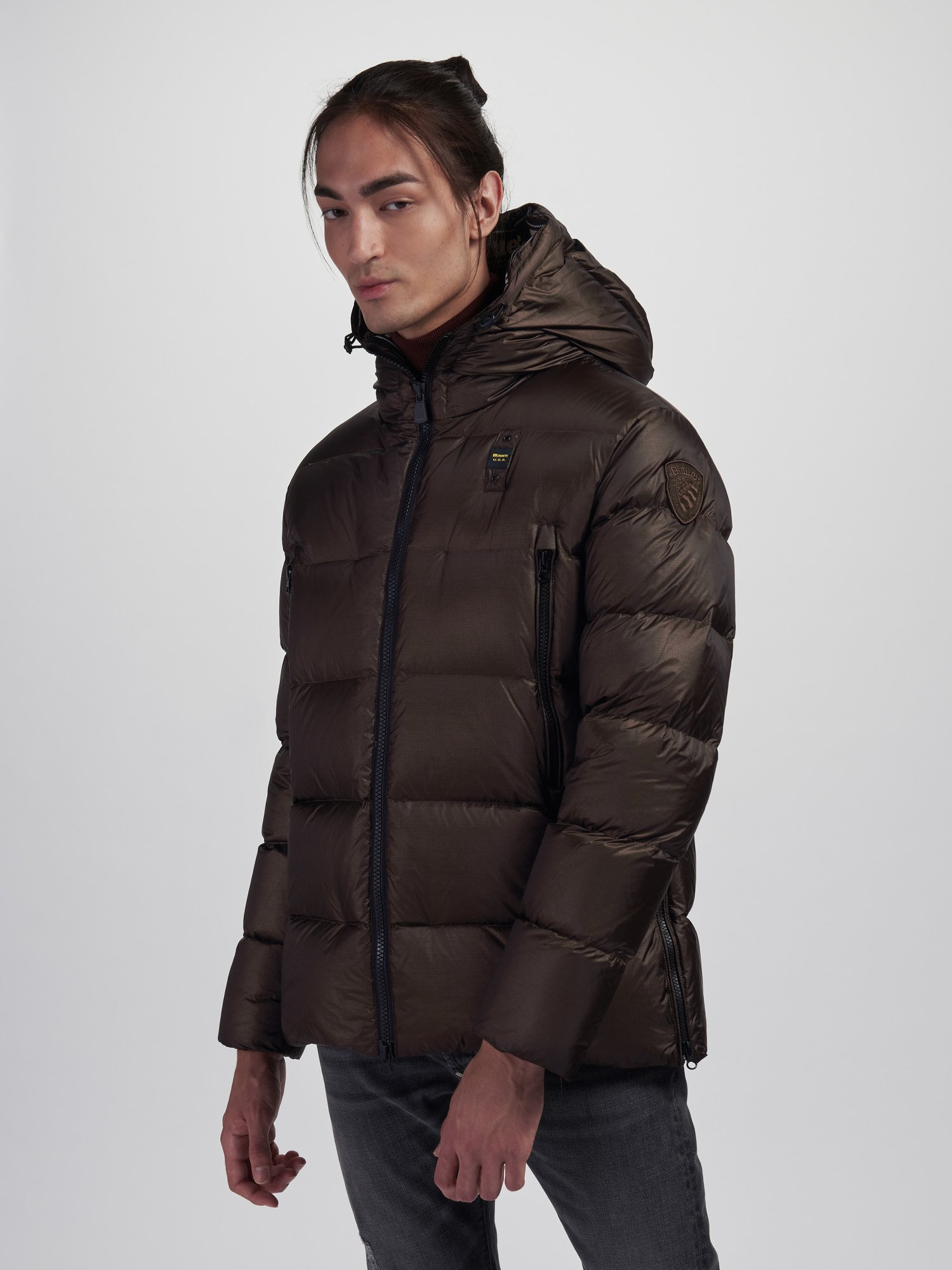 Blauer - HENRY LONG DOWN JACKET - Marron Glace - Blauer