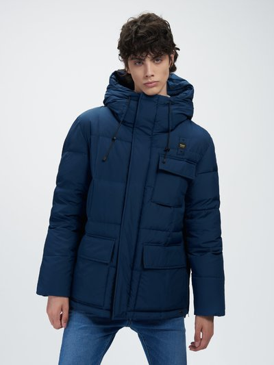 JO LONG DOWN JACKET WITH THREE POCKETS