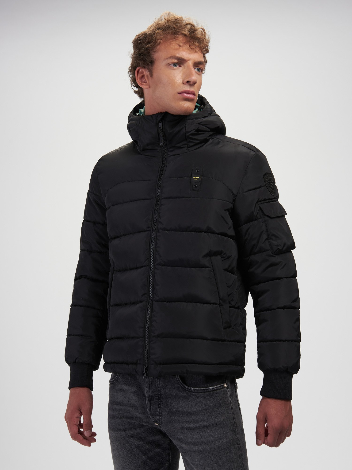 RED RECYCLED PADDED JACKET - Blauer