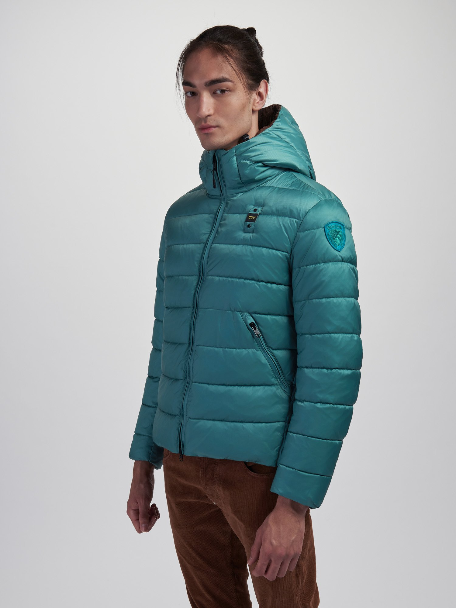 Blauer - WAYNE BIO DOWN JACKET - Green North Sea - Blauer