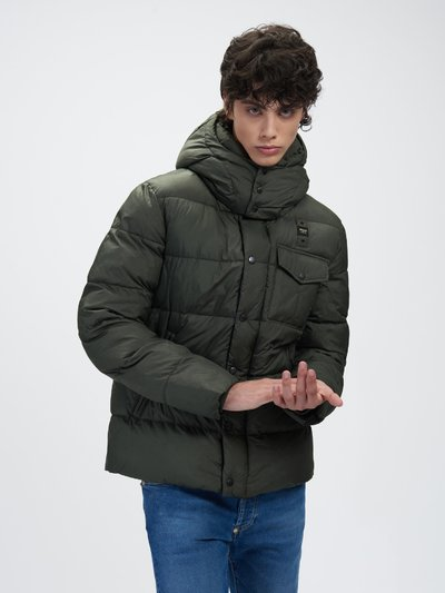 STEVE JACKET WITH MIXED PADDING AND DETACHABLE HOOD