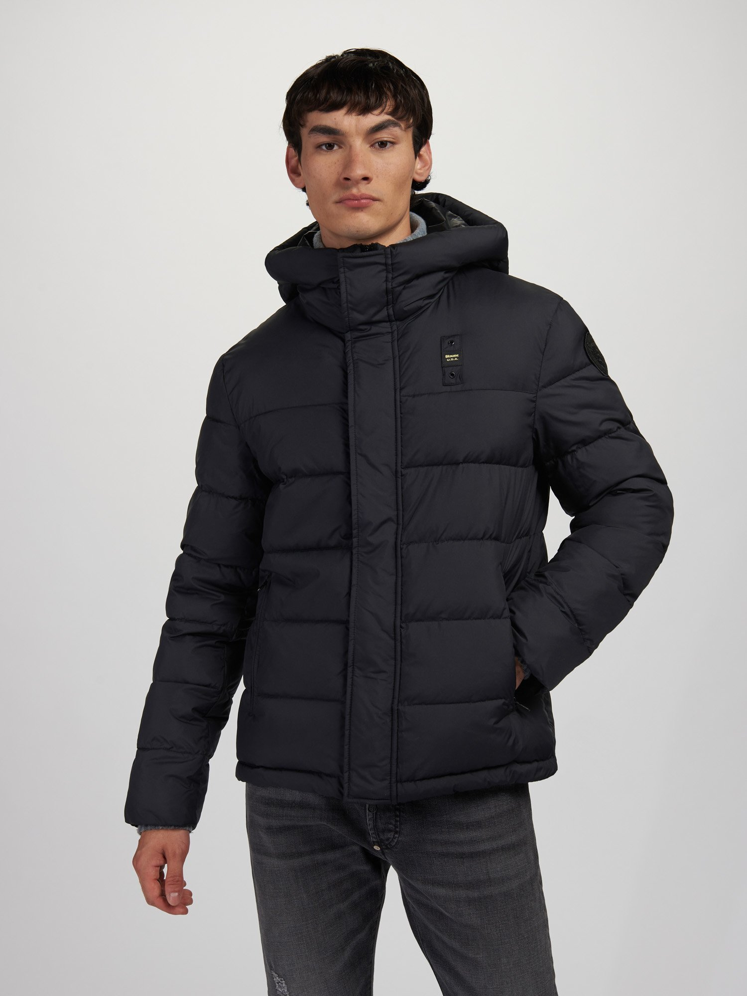 BILLY JACKET WITH MIXED PADDING - Blauer