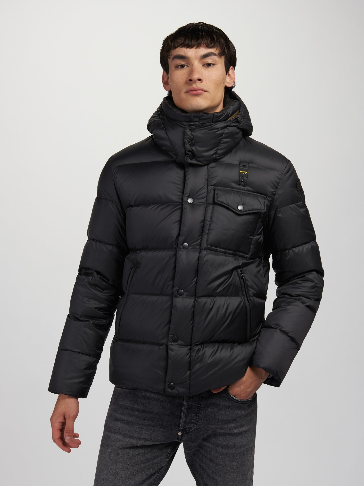 Blauer - LAWRENCE DOWN JACKET WITH DETACHABLE HOOD - Blauer
