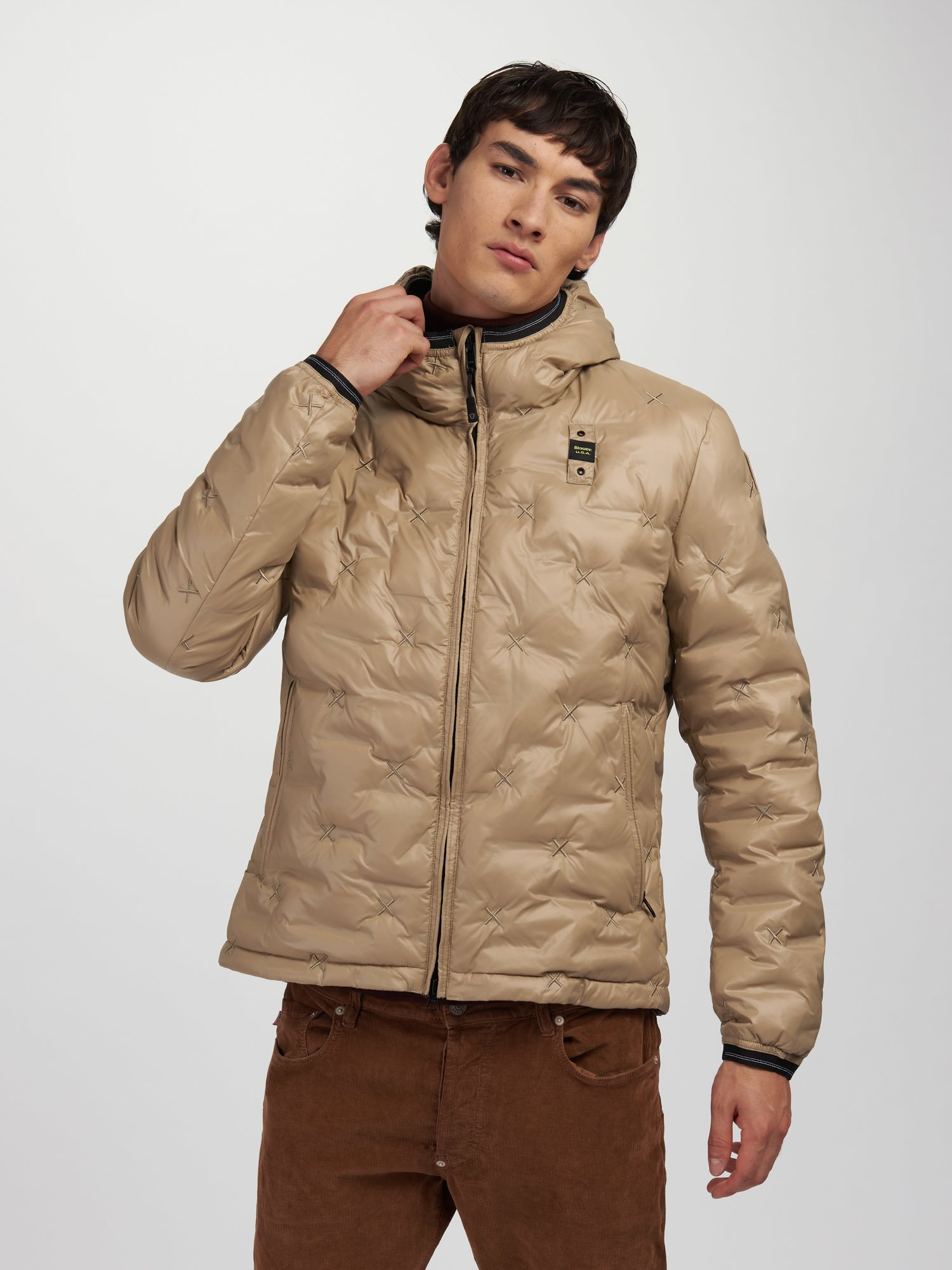 JEREMY DOWN JACKET WITH STAGGERED PATTERN - Blauer