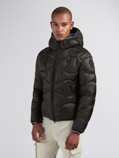 BENJAMIN CROSSED-WAVE DOWN JACKET