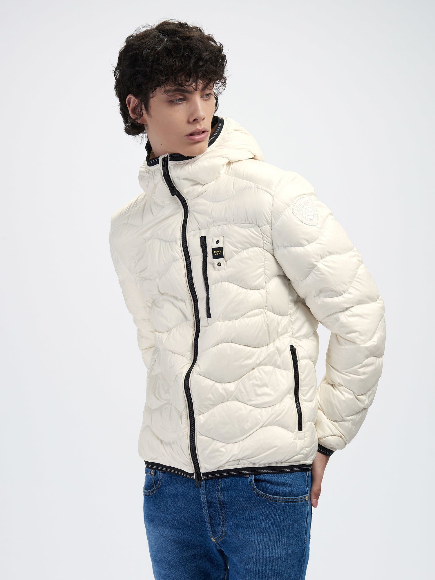 ROY WAVE-QUILTED DOWN JACKET - Blauer