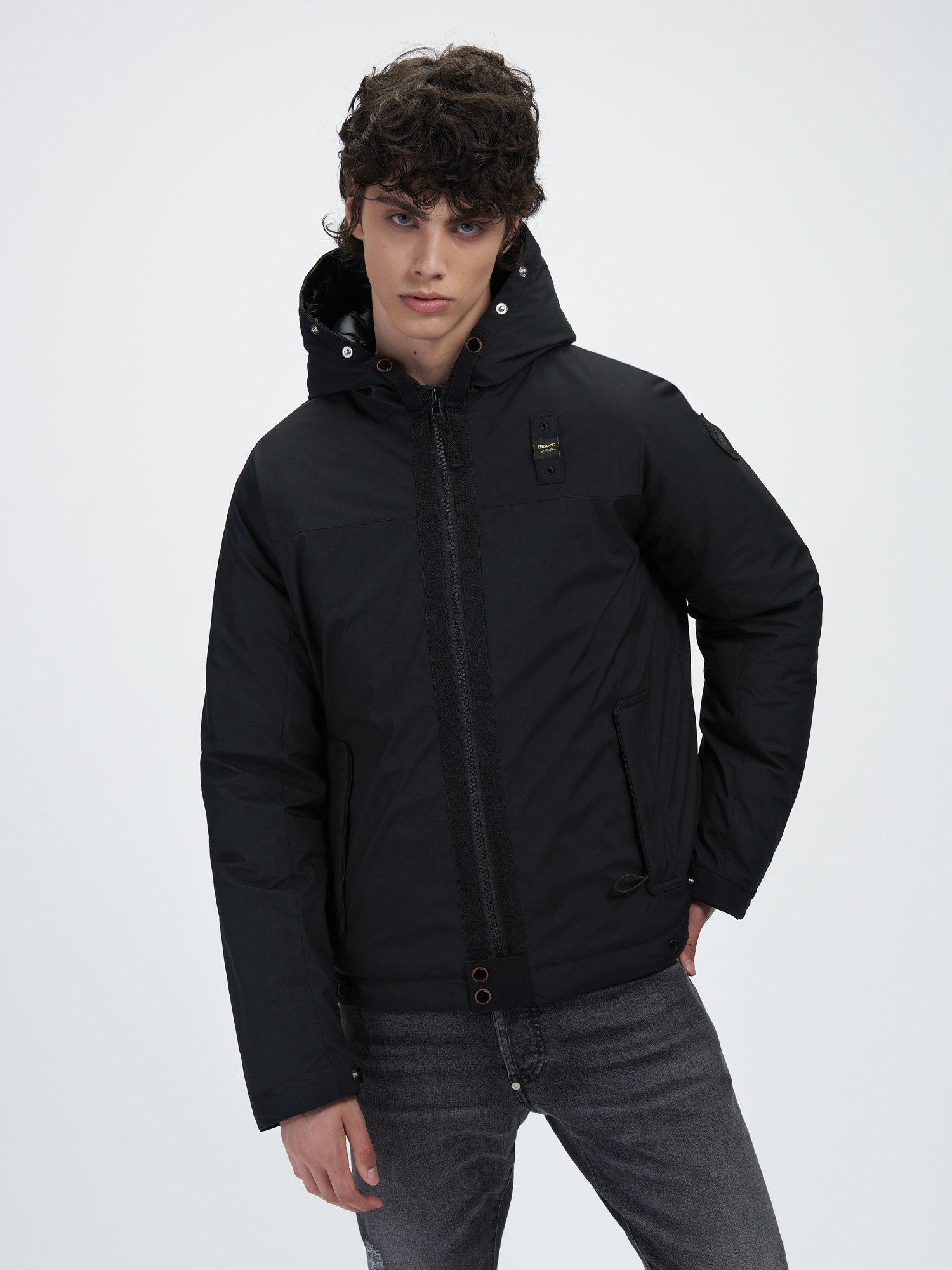 VICTOR DOWN JACKET IN NYLON-LINED NEOPRENE - Blauer