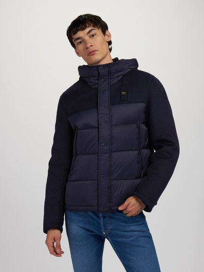 CARLOS WOOL AND NYLON DOWN JACKET