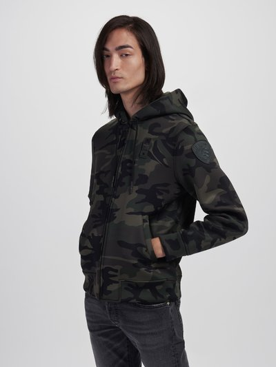 ZIP SWEATSHIRT IN CAMOUFLAGE NEOPRENE