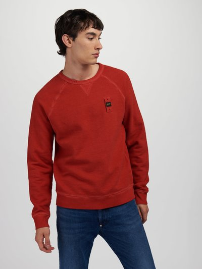 GARMENT-DYED COTTON SWEATSHIRT