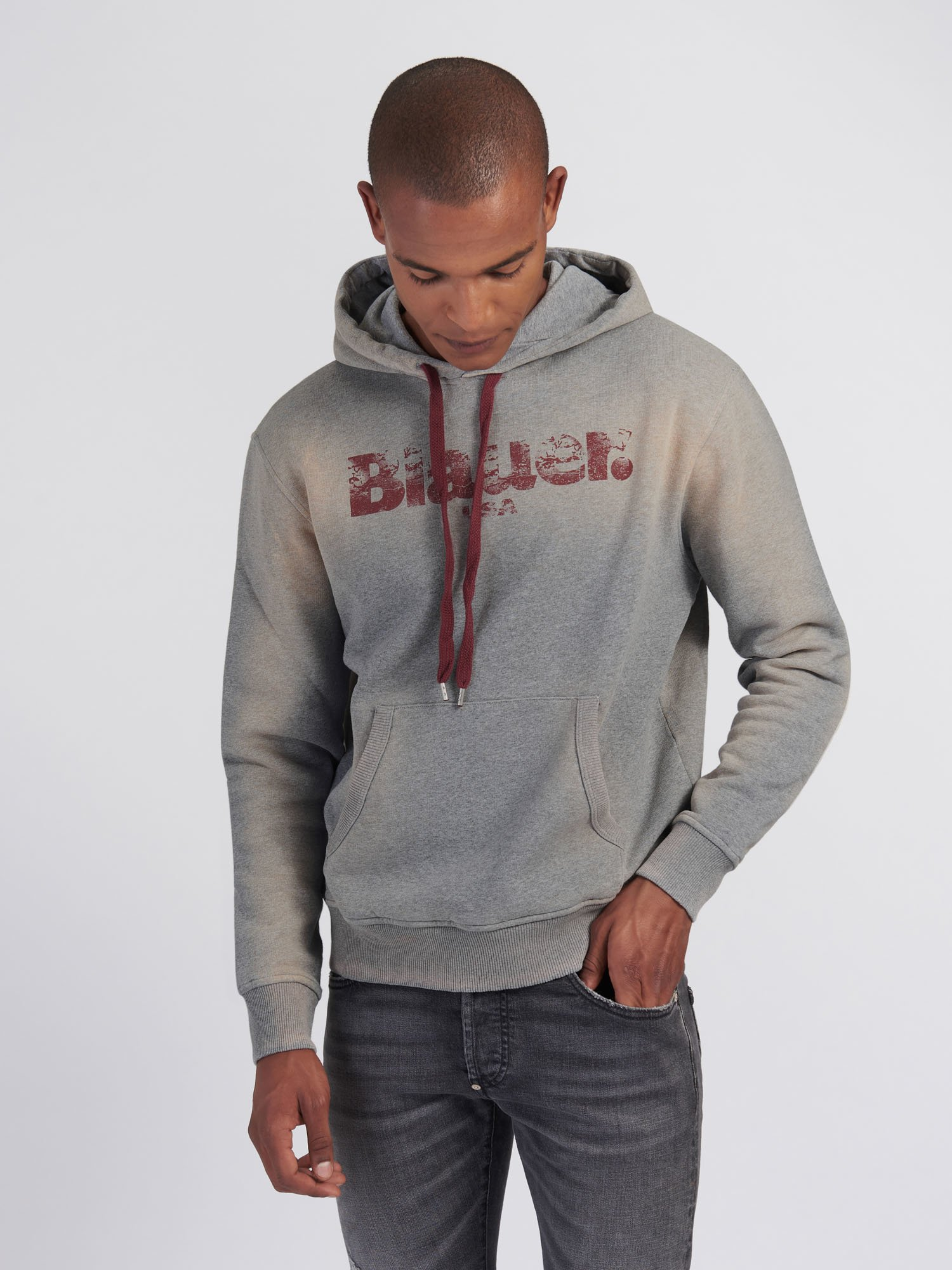POUCH POCKET SWEATSHIRT WITH HOOD - Blauer