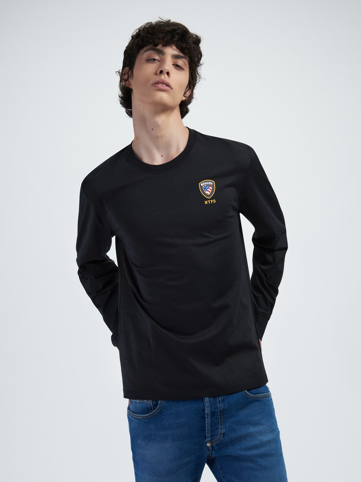 LONG SLEEVE T-SHIRT IN JERSEY - Blauer