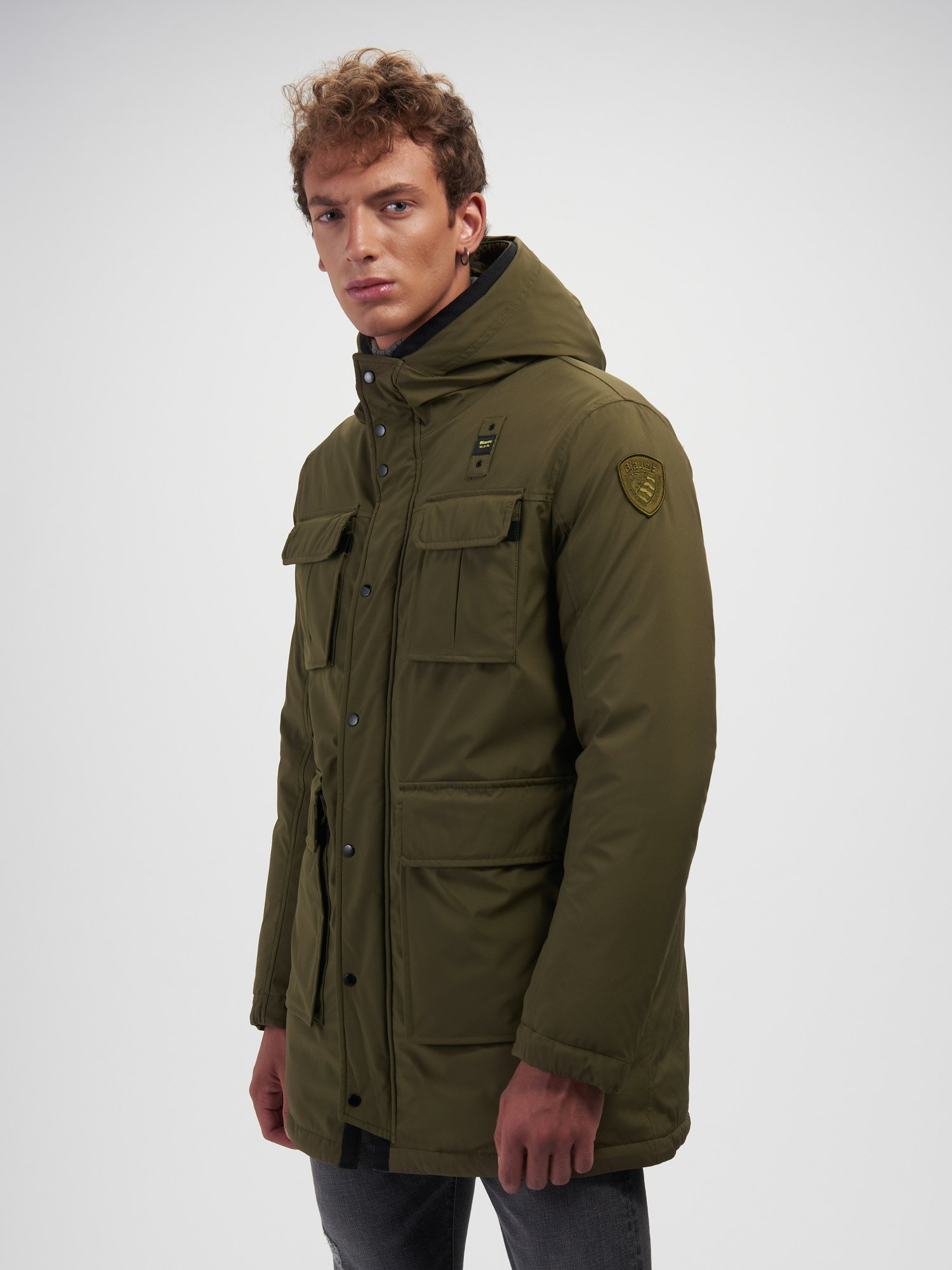 Blauer - ALAN FOUR POCKETS DOWN JACKET - Light Military Green - Blauer