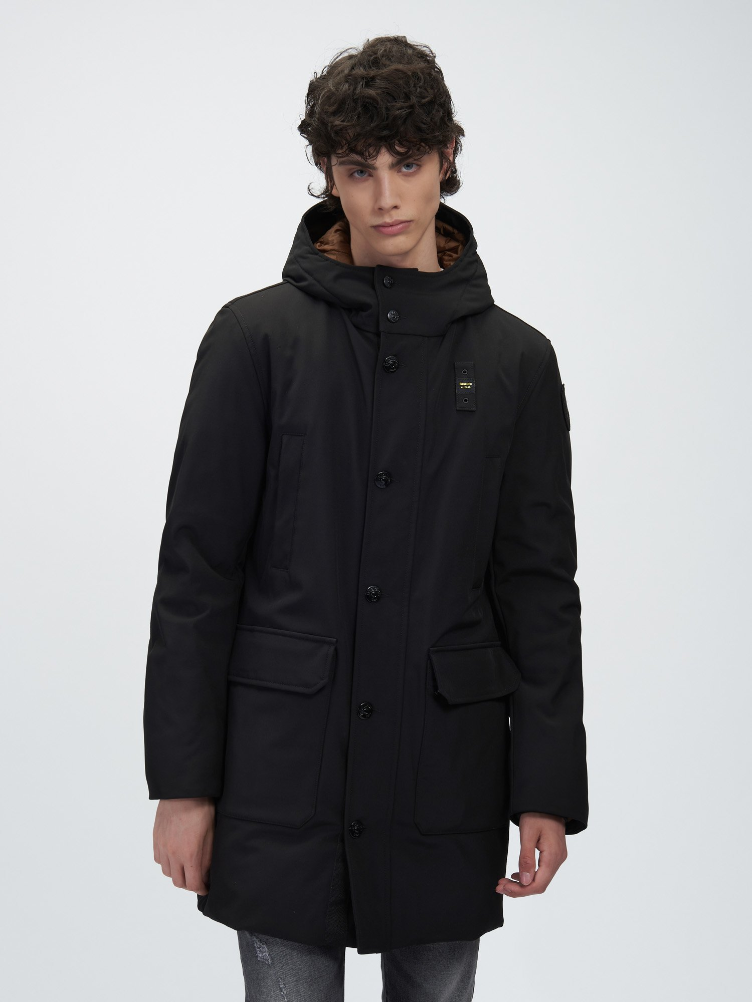 SEAN NYLON LONG DOWN JACKET - Blauer