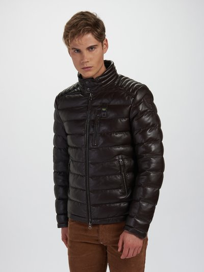 HAROLD CAMOUFLAGE LEATHER DOWN JACKET