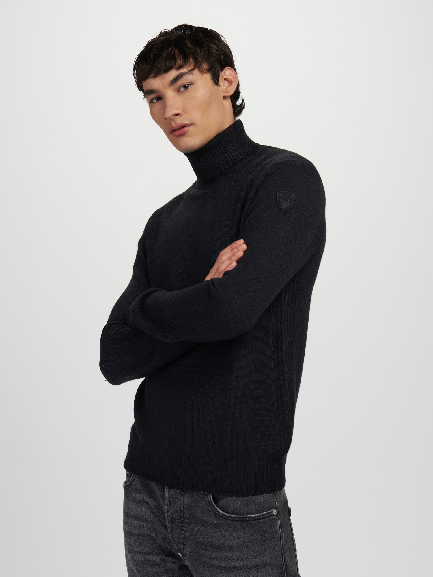 WOOL TURTLENECK WITH STRIPES - Blauer