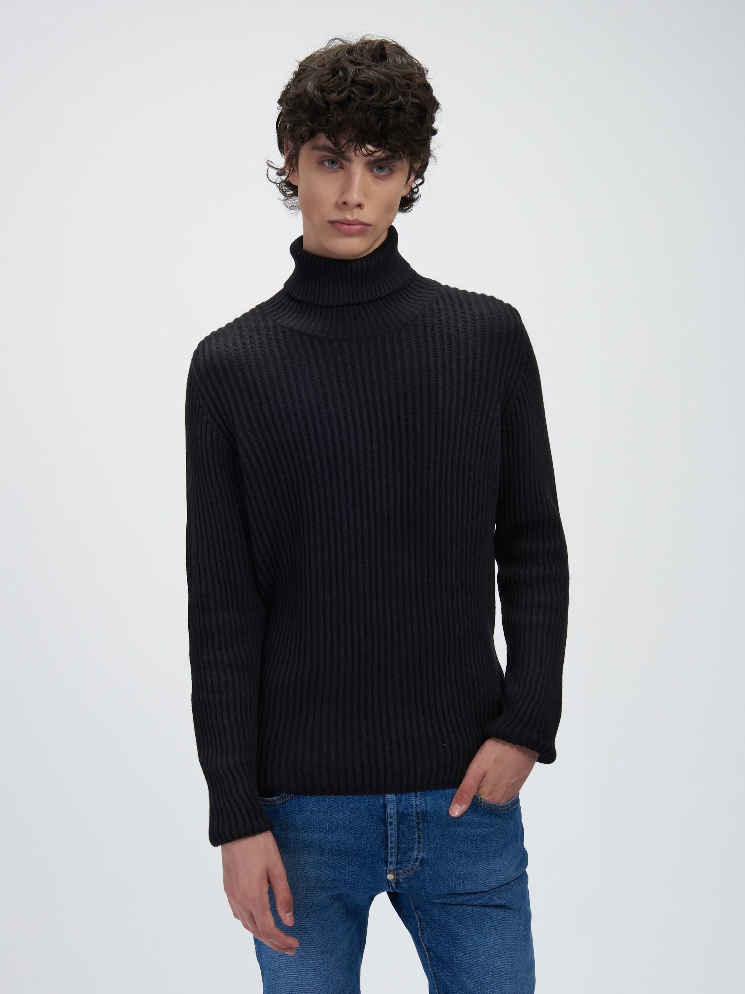 RIBBED TURTLENECK SWEATER - Blauer
