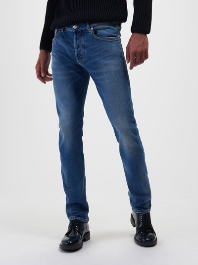 LIGHT BLUE STONE WASH JEANS