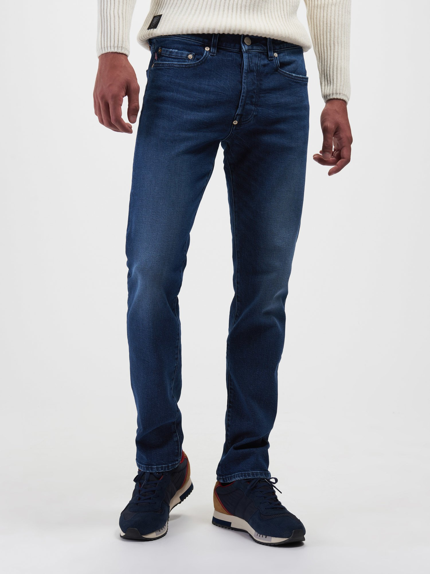 DARK BLUE STONE WASH JEANS - Blauer