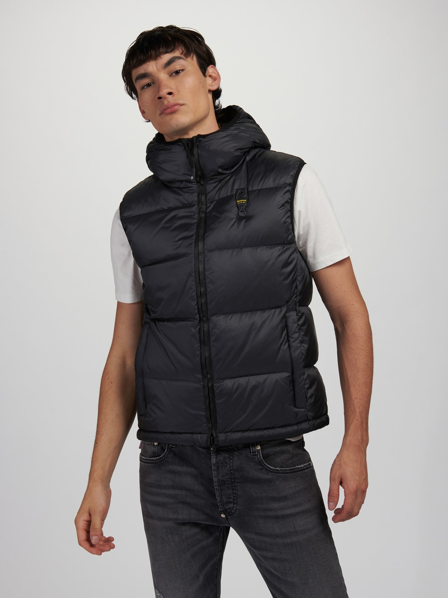 JOSE DOWN VEST WITH HOOD - Blauer