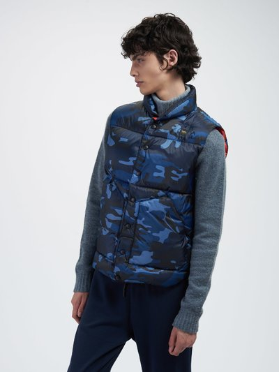 LARRY CAMOUFLAGE DOWN VEST