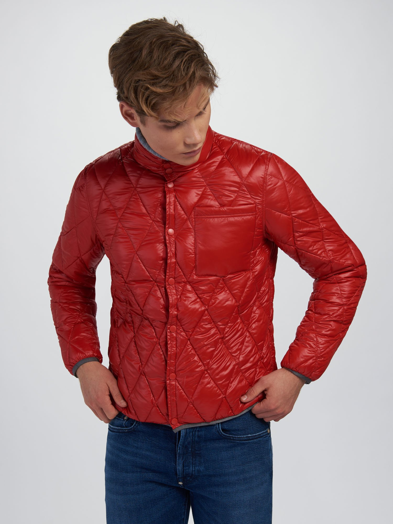 Blauer - BPD FOUR SEASONS DOWN JACKET - Vivid Red Ins. Clementine - Blauer