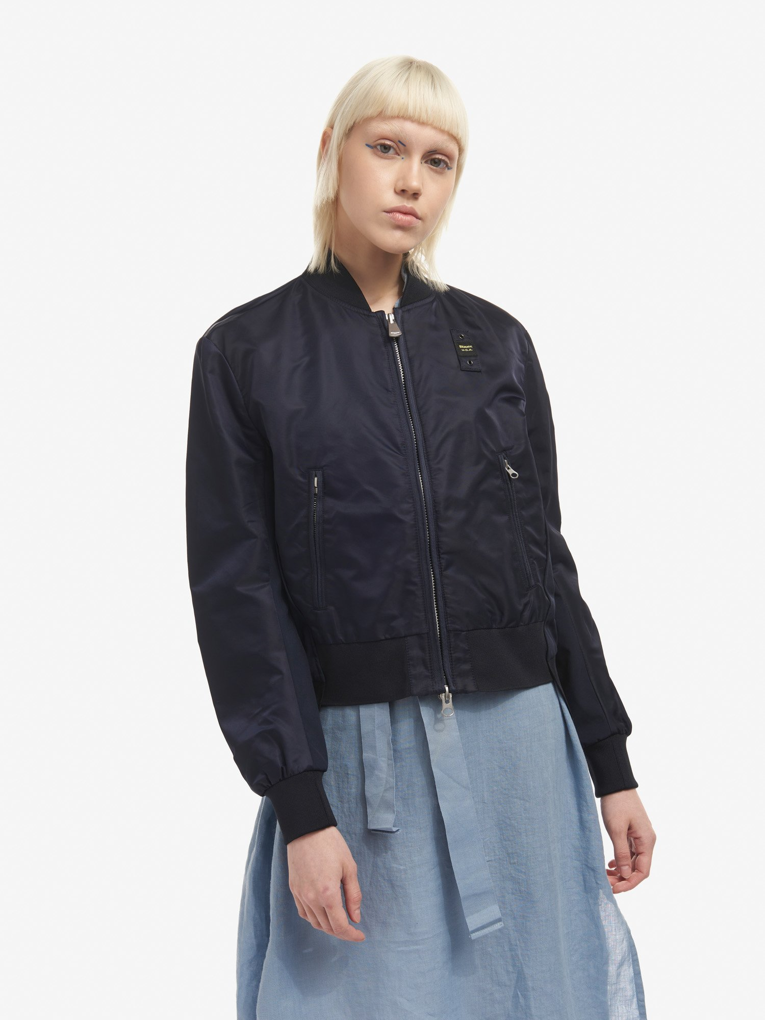 FLORENCE LINED SATIN BOMBER JACKET - Blauer