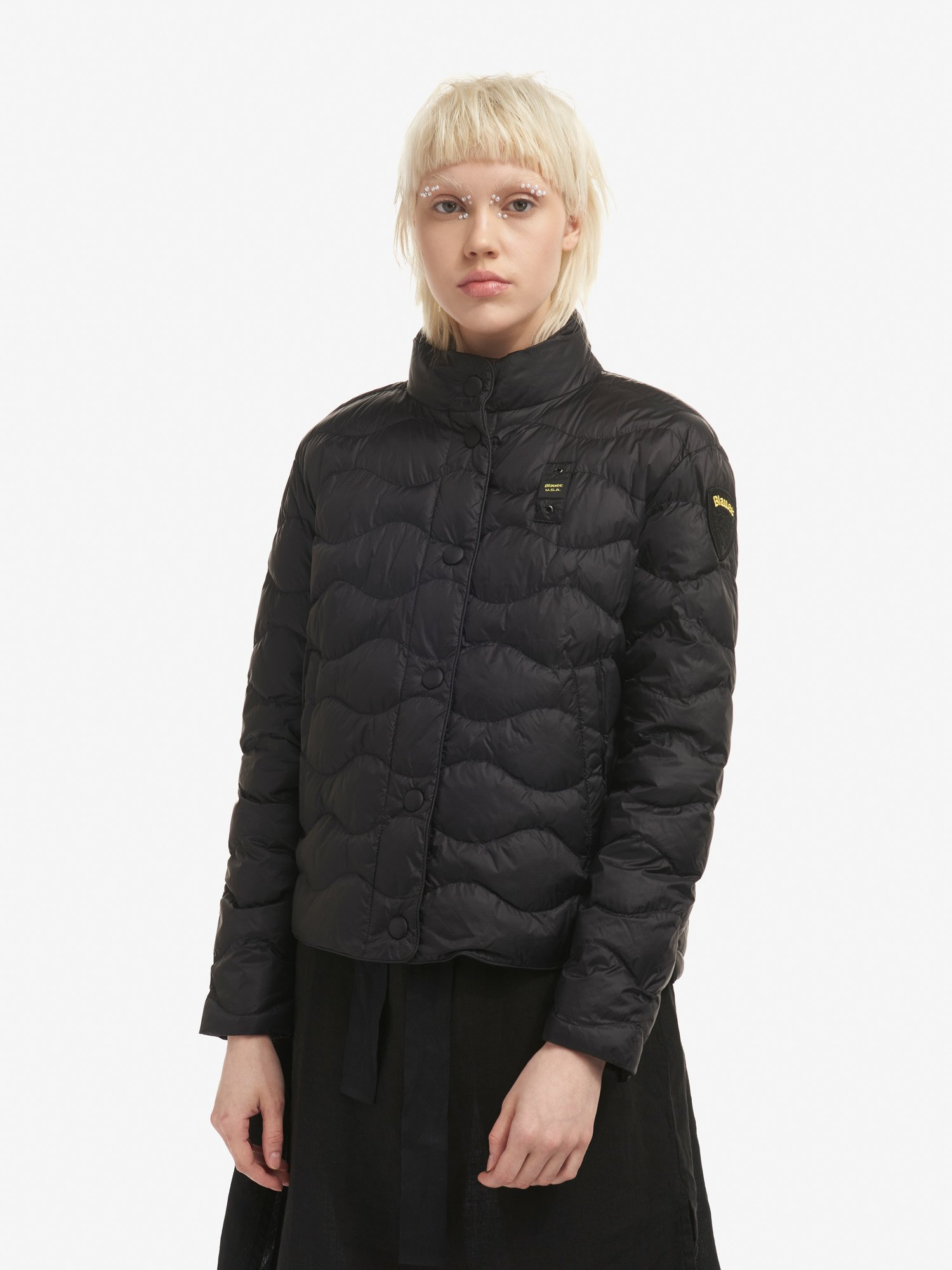 Blauer - CONNIE JACKET WITH WAVE-QUILTED ECO PADDING - Black - Blauer