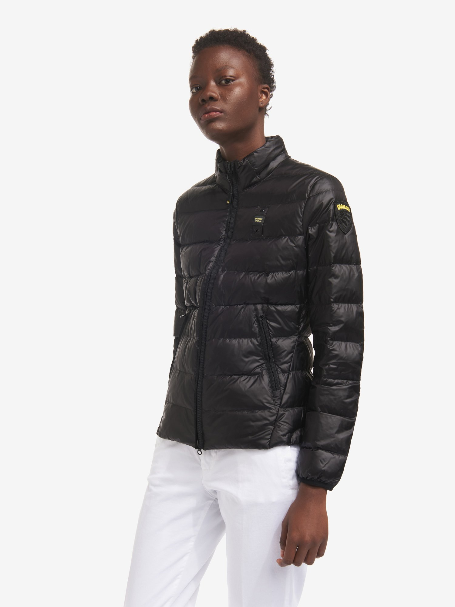 LOIS SHINY MONOCHROMATIC DOWN JACKET - Blauer
