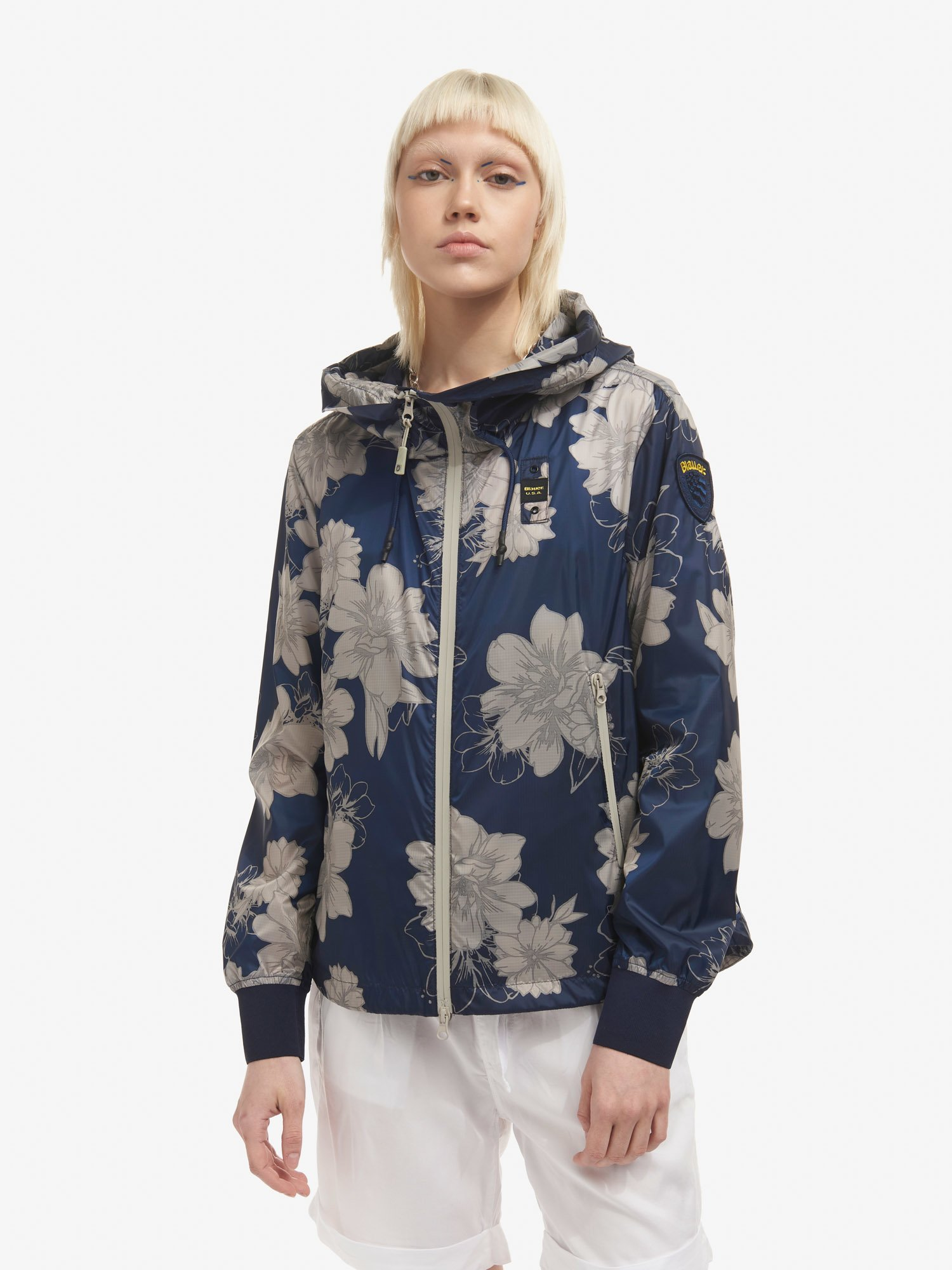 NORMA UNLINED JACKET WITH FLORAL MOTIF - Blauer