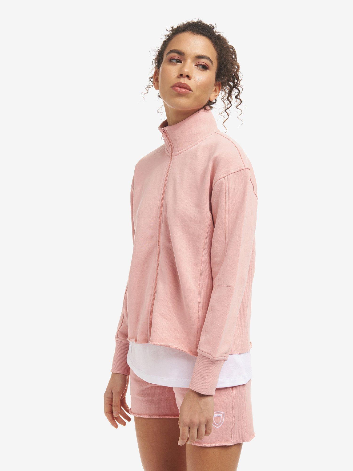 Blauer - SWEATSHIRT WITH ZIP - Soft Pink - Blauer