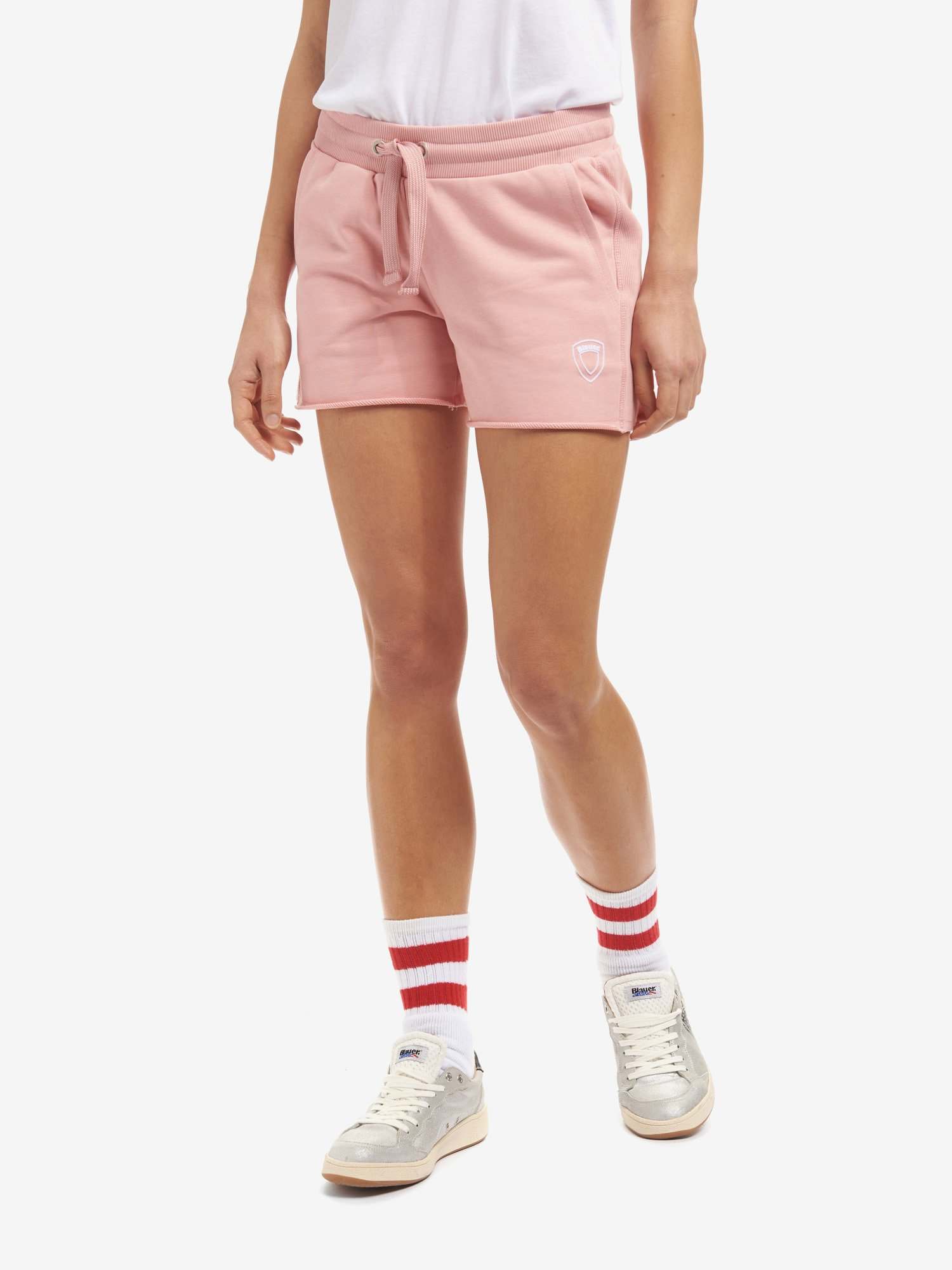 Blauer - SHORT SWEATPANTS - Soft Pink - Blauer
