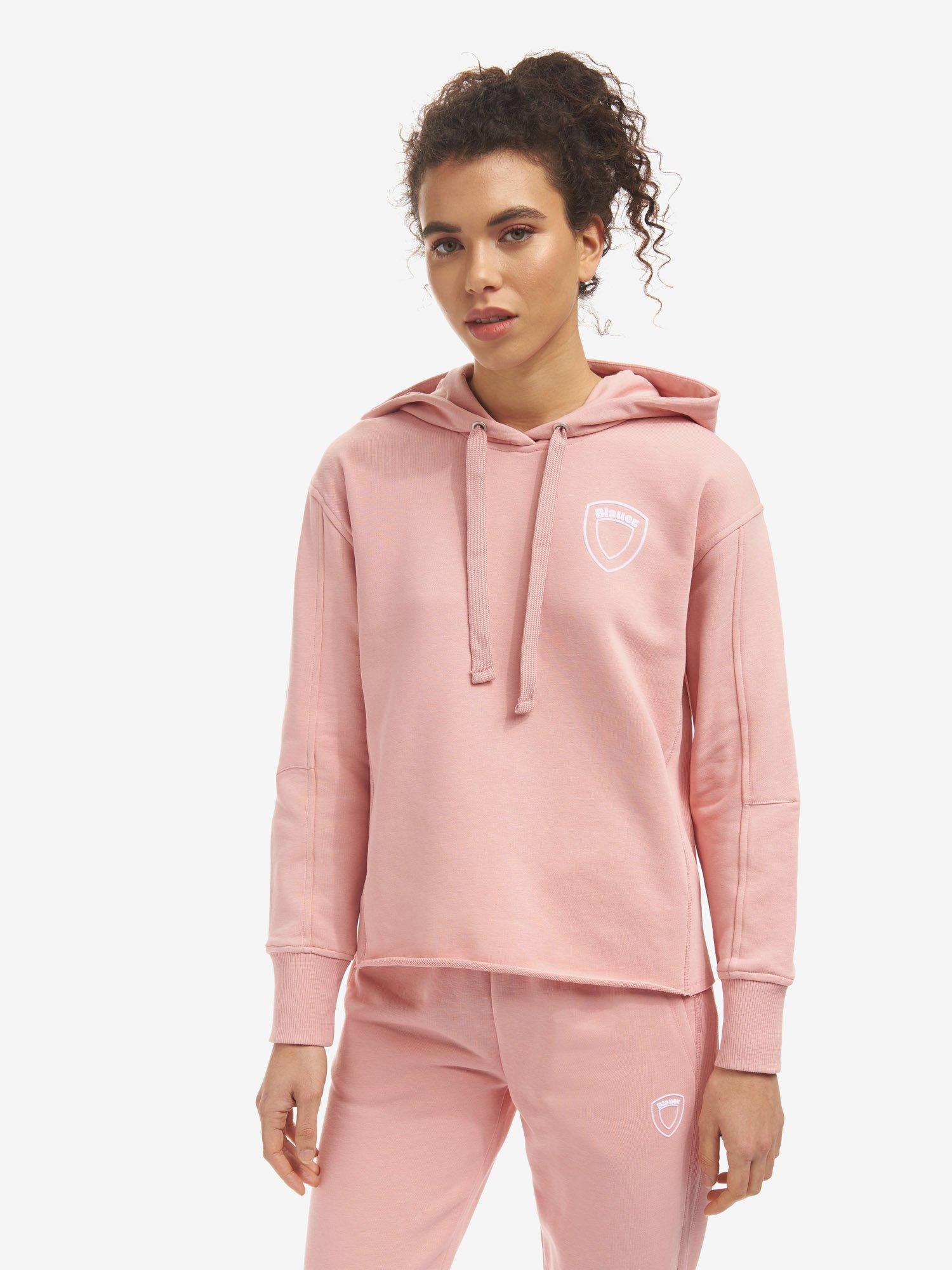 Blauer - SUDADERA CERRADA CON CAPUCHA - Soft Pink - Blauer