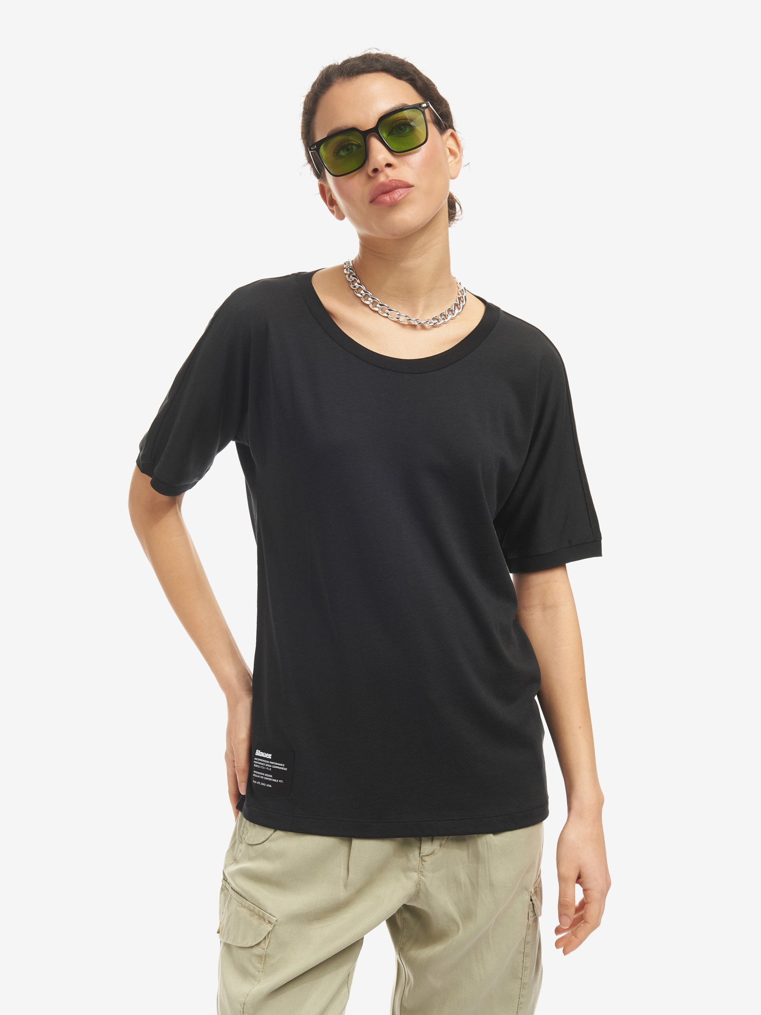 COTTON AND LYOCELL T-SHIRT - Blauer
