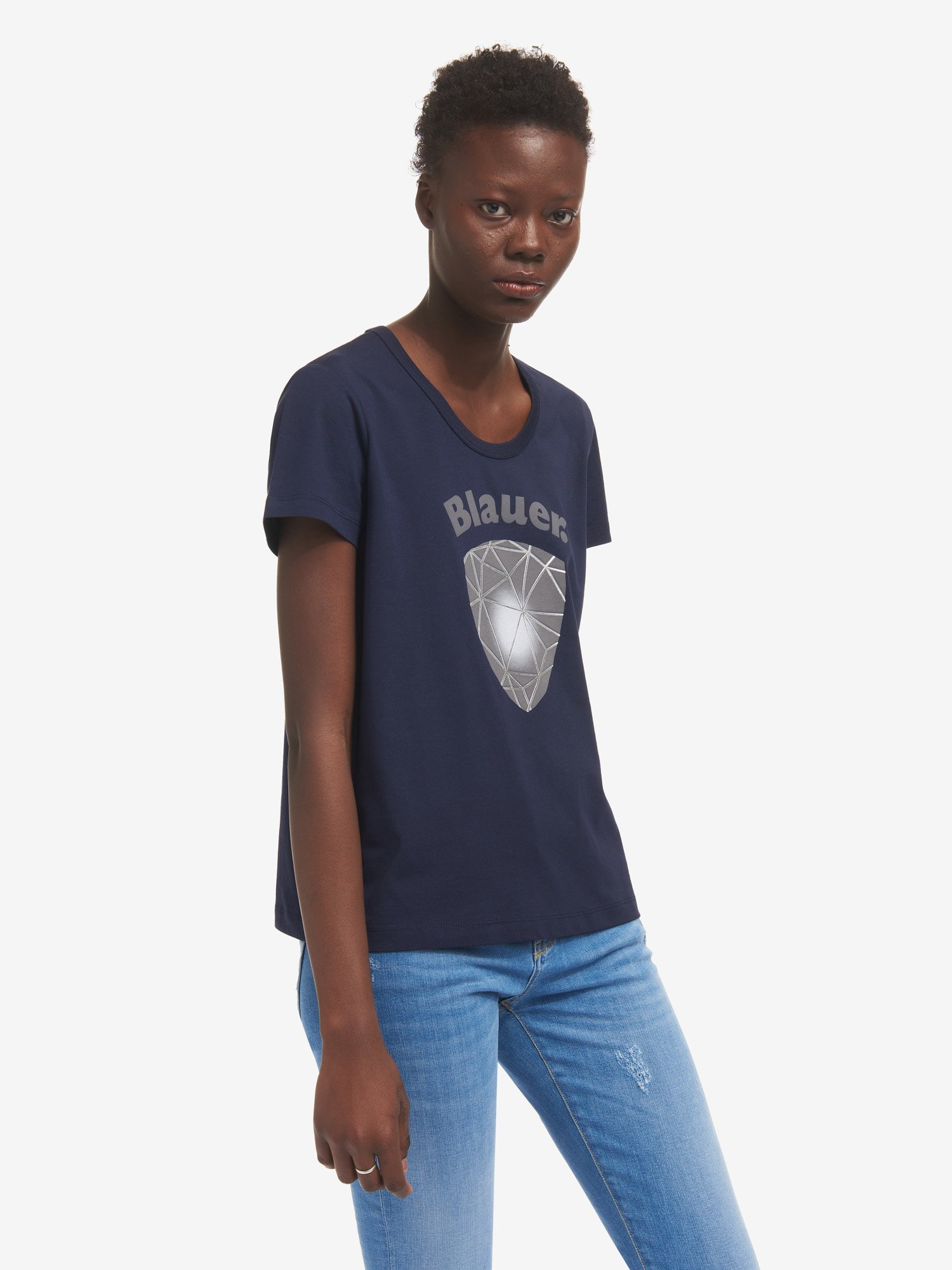 Blauer - T-SHIRT BLAUER 3D - Zaffiro Scuro - Blauer
