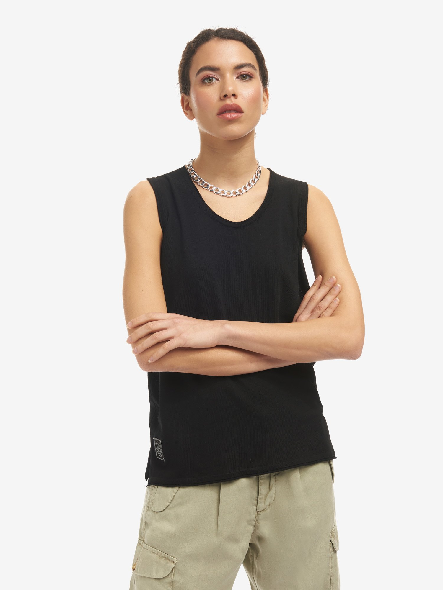 Blauer - SLEEVELESS CREW NECK - Black - Blauer