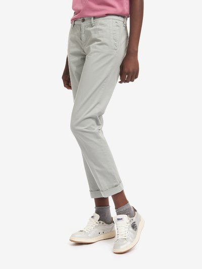 LONG GABARDINE TROUSERS