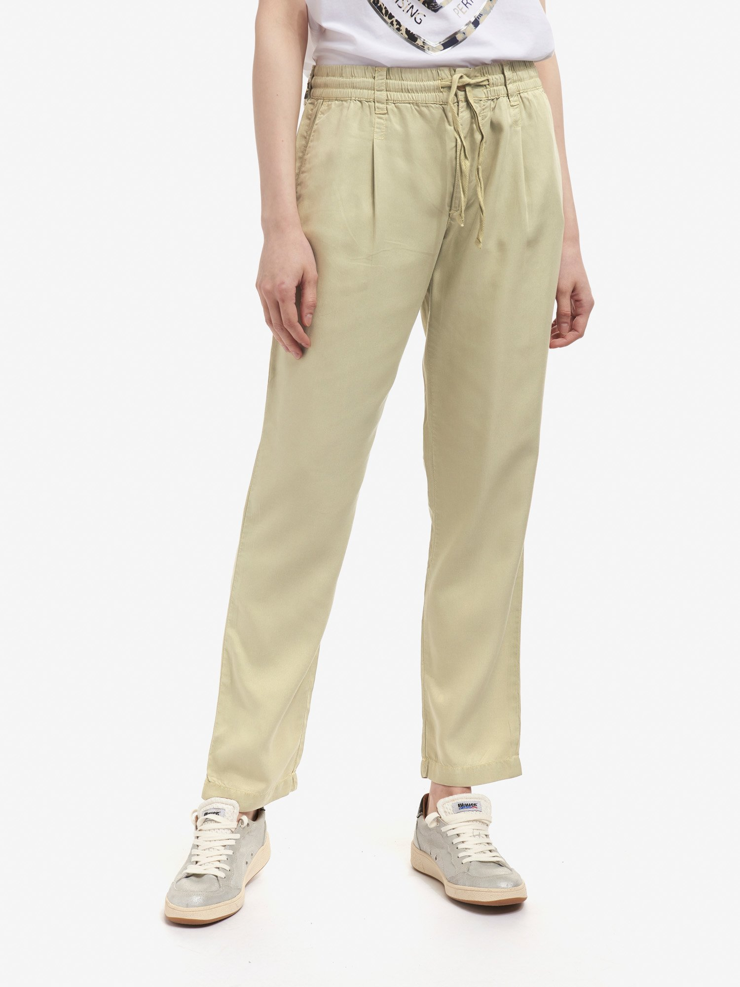 Blauer - LYOCELL LONG PANTS - Moss Gray - Blauer