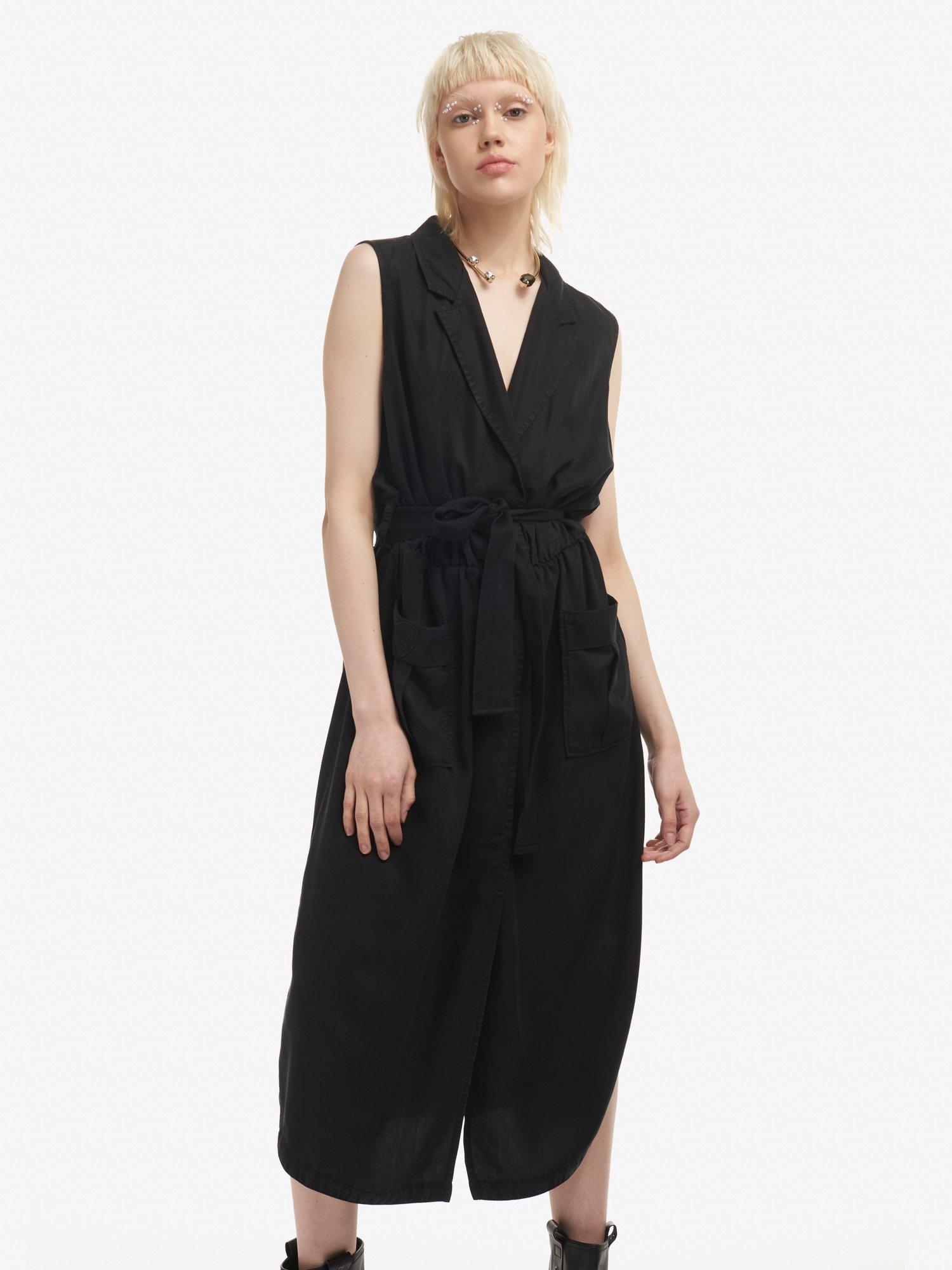 Blauer - SLEEVELESS DRESS - Black - Blauer