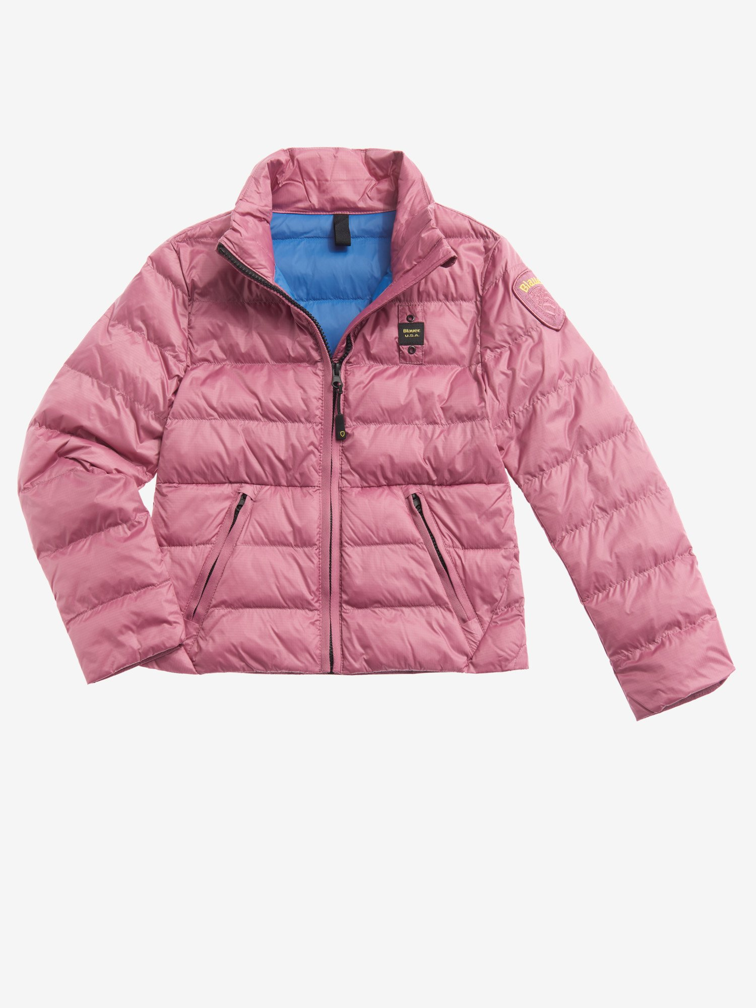 Blauer - SHEILA DOWN JACKET WITH ECO PADDING - Pink Heather - Blauer