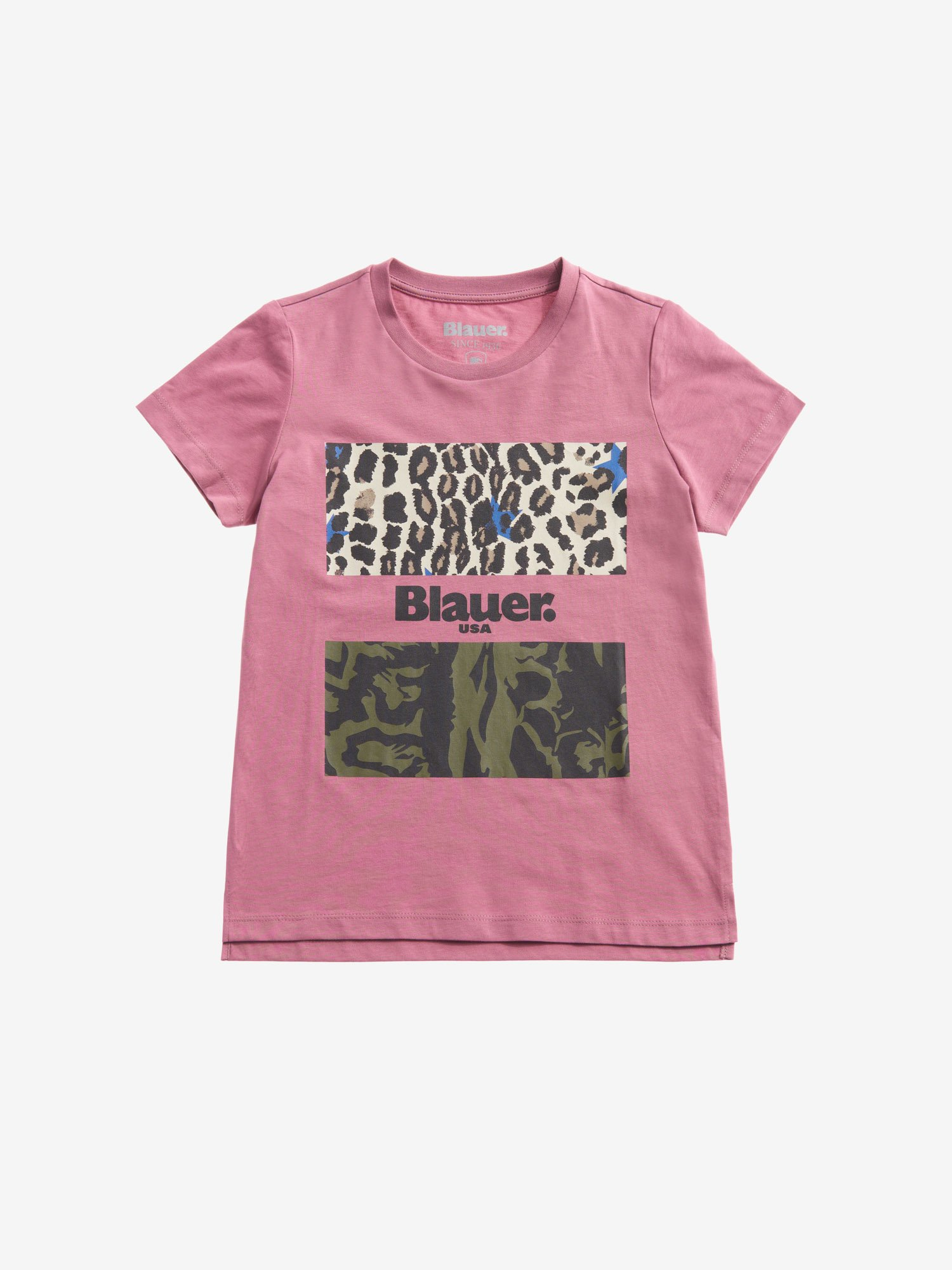 Blauer - CAMOUFLAGE ANIMALIER T-SHIRT - Pink Heather - Blauer