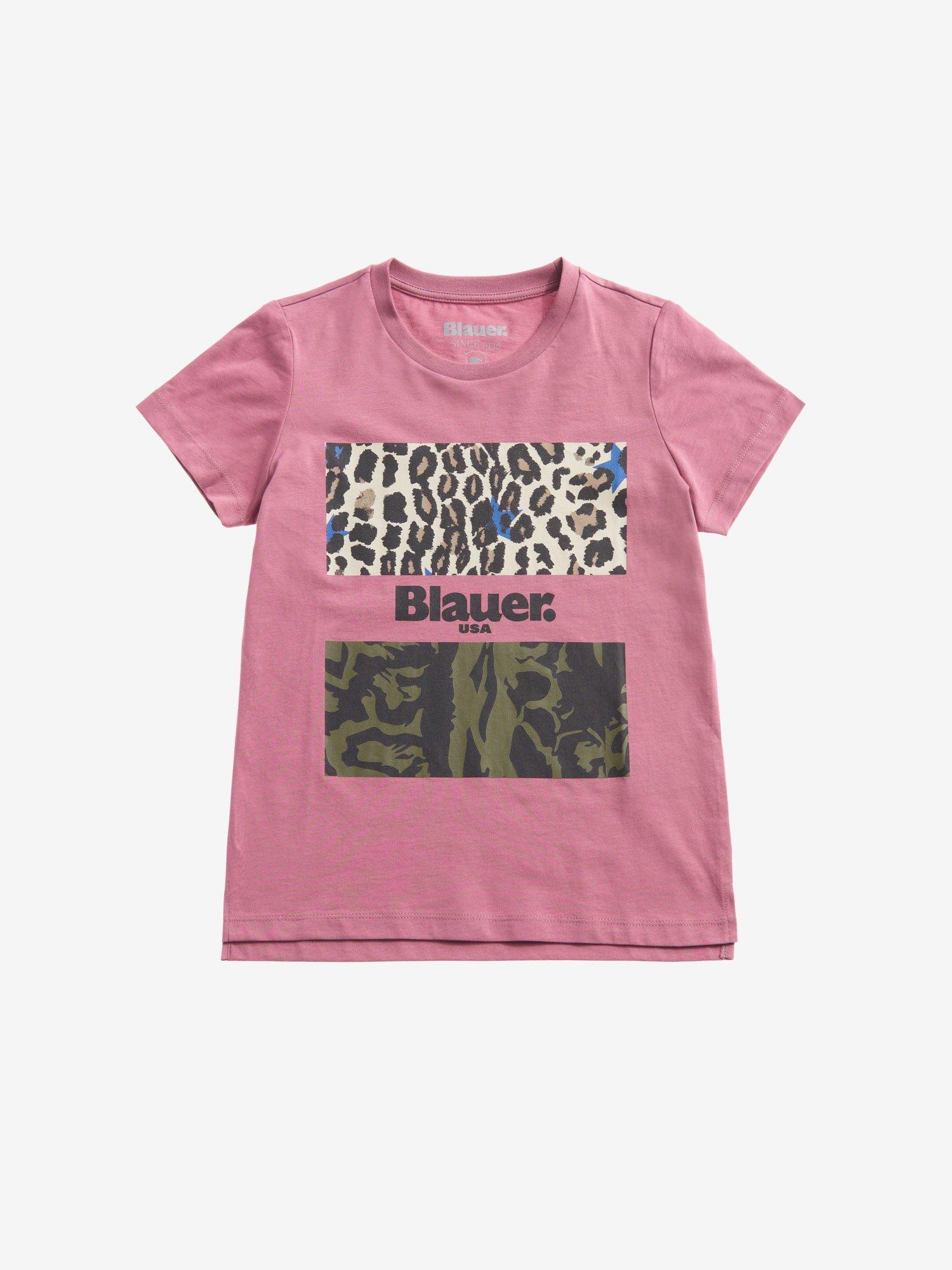 Blauer - T-SHIRT CAMOUFLAGE ANIMALIER POUR FILLE - Pink Heather - Blauer