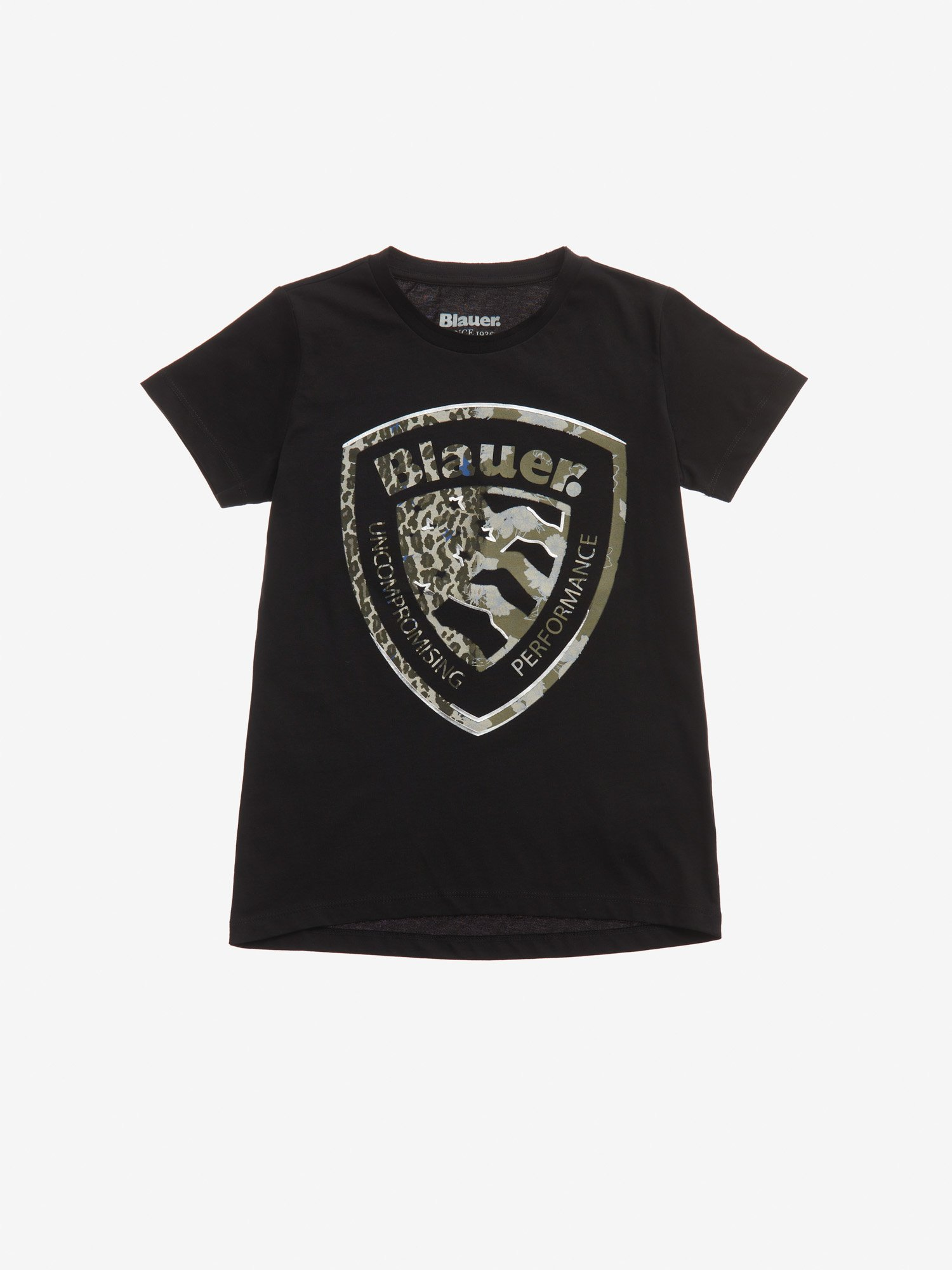 T-SHIRT WITH 3D FASHION SHIELD - Blauer
