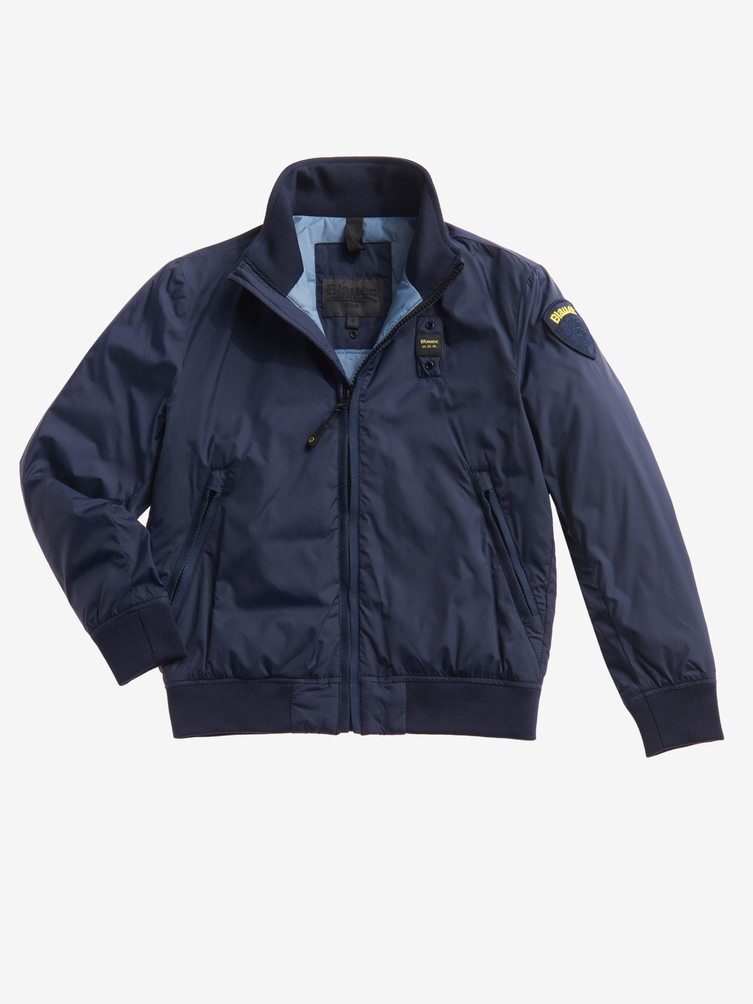 Blauer - JEROME BOMBER JACKET WITH ECOLOGICAL PADDING - Dark Sapphire - Blauer