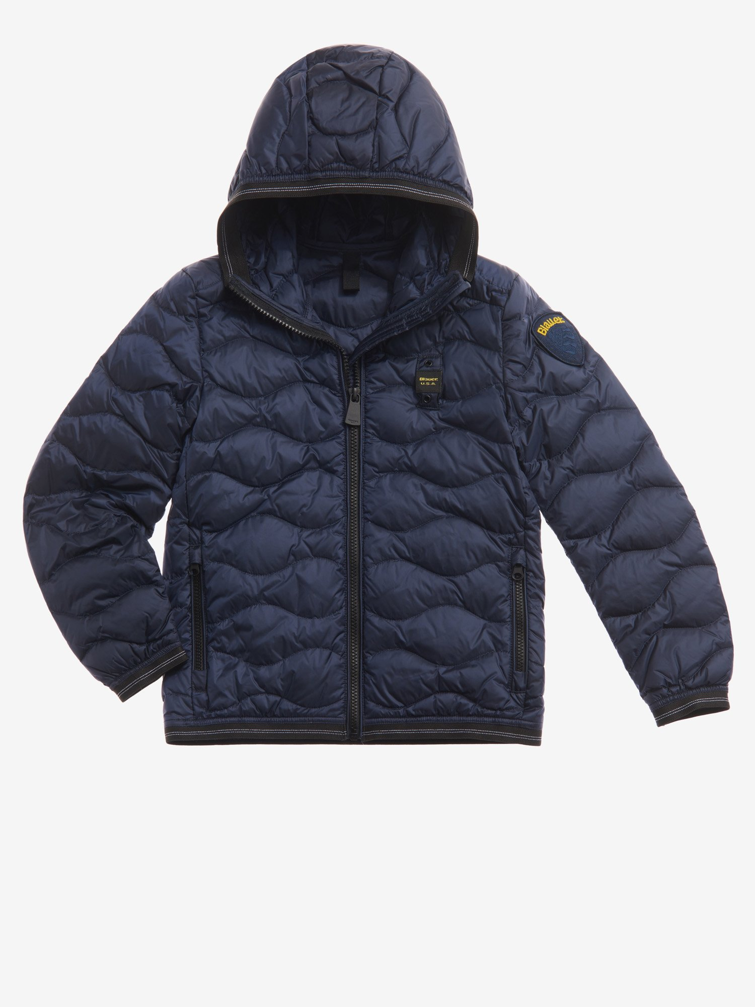 ALVIN WAVE-QUILTED DOWN JACKET WITH HOOD - Blauer